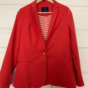 Zara medium coral orange blazer